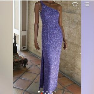 Lavender Beaded Gown Vintage
